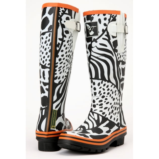 Evercreatures Wild Tall Wellies - Zebra