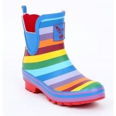 Evercreatures Rainbow Meadow Ankle Wellies - Multi Colour Wellingtons