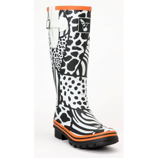 Evercreatures Wild Tall Wellies - Zebra Wellingtons