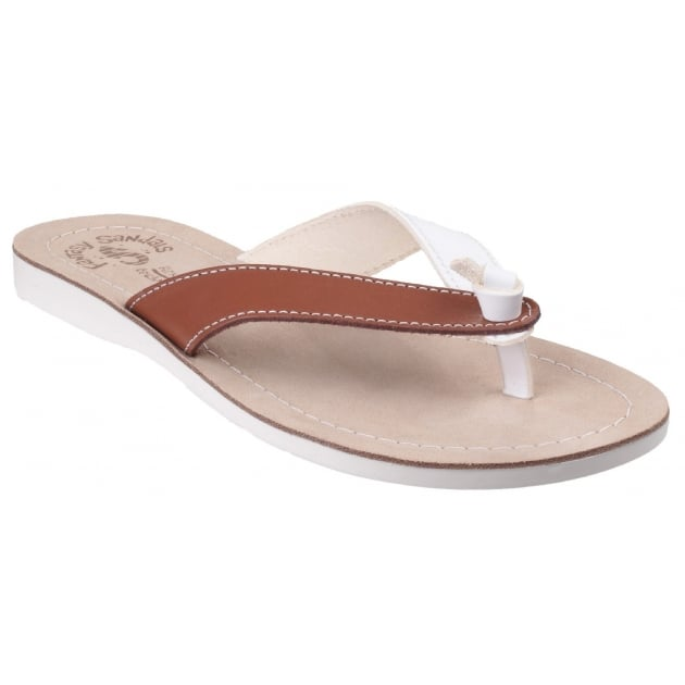 Fantasy Kos White/Tan Sandals