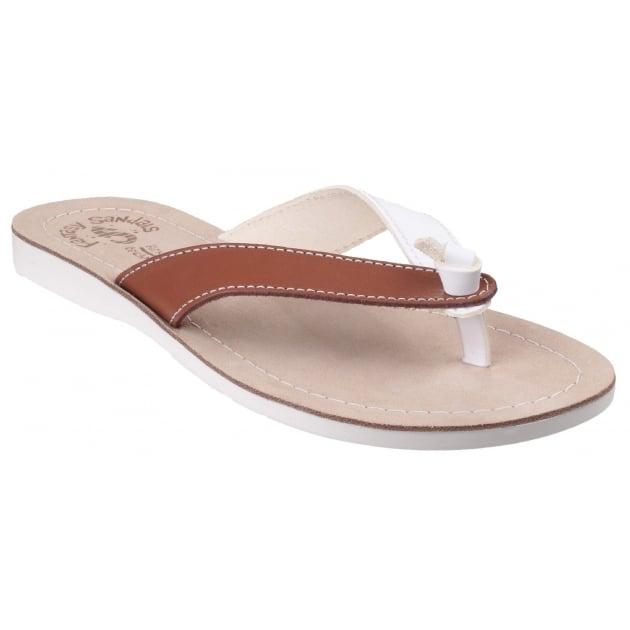 Kos White/Tan Sandals