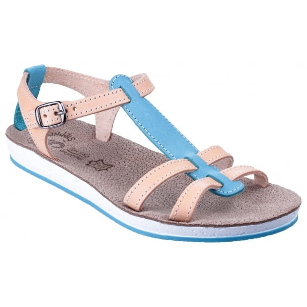 Fantasy Lemnos Blue/Natural Sandals