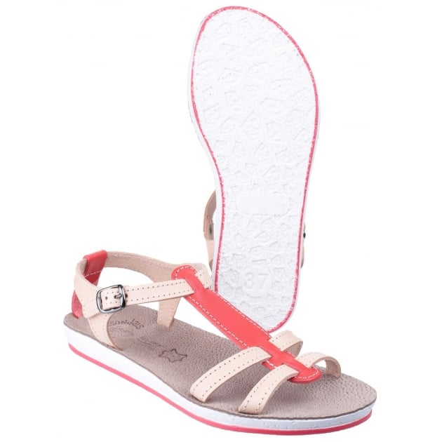 Fantasy Lemnos Coral/Natural Sandals