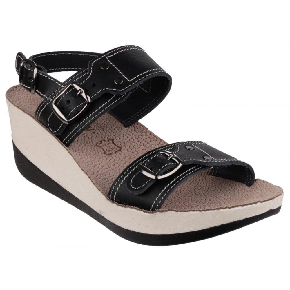 Fantasy Mykonos Women S Black Sandals Free Delivery At