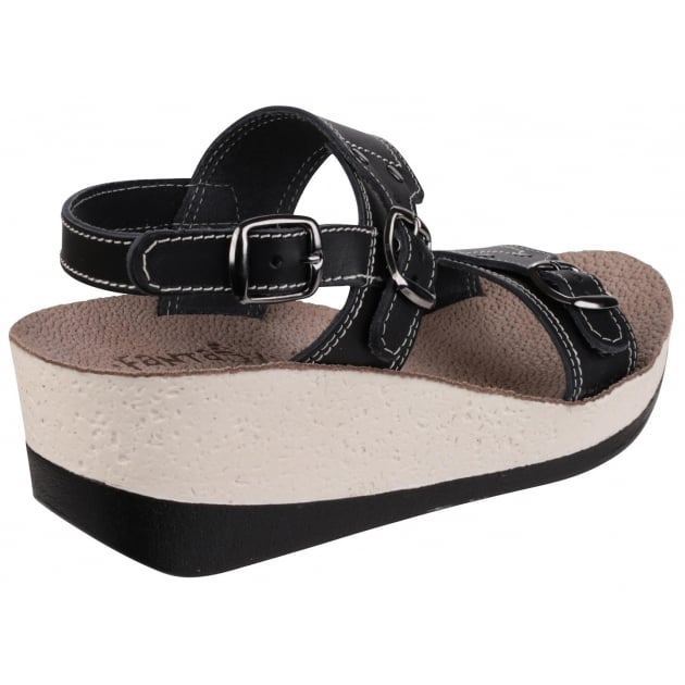 Fantasy Mykonos Black Sandals