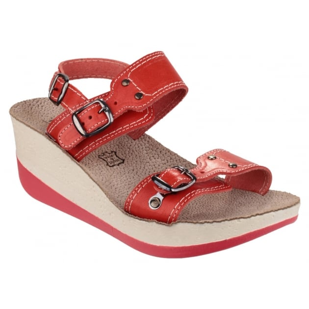 Fantasy Mykonos Women S Red Sandals Free Delivery At