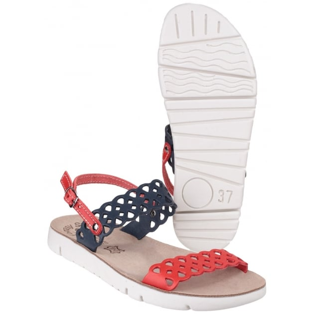 Fantasy Piperi Red/Black Sandals
