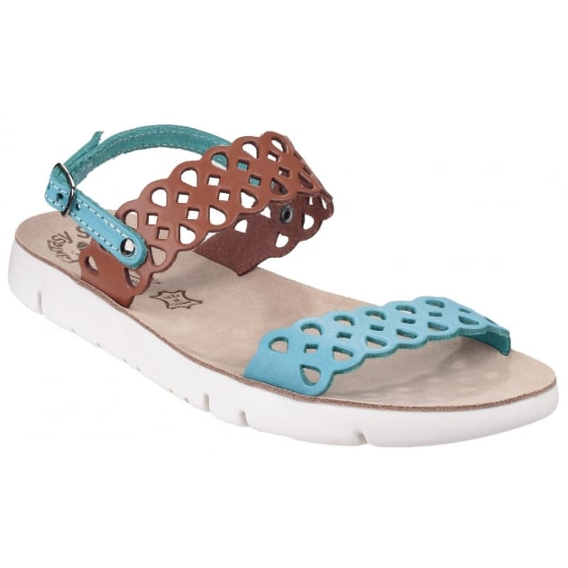 Fantasy Piperi Tan/Blue Sandals