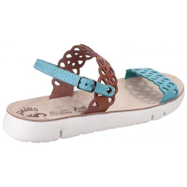 Piperi Tan/Blue Sandals