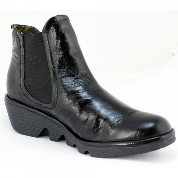 fly phil s black patent boots free delivery