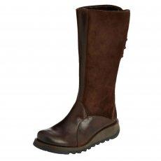 Fly London Sato Dark Brown Boots