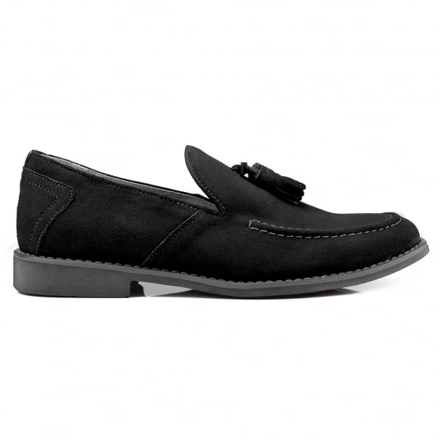 Front Barnes Black Shoes