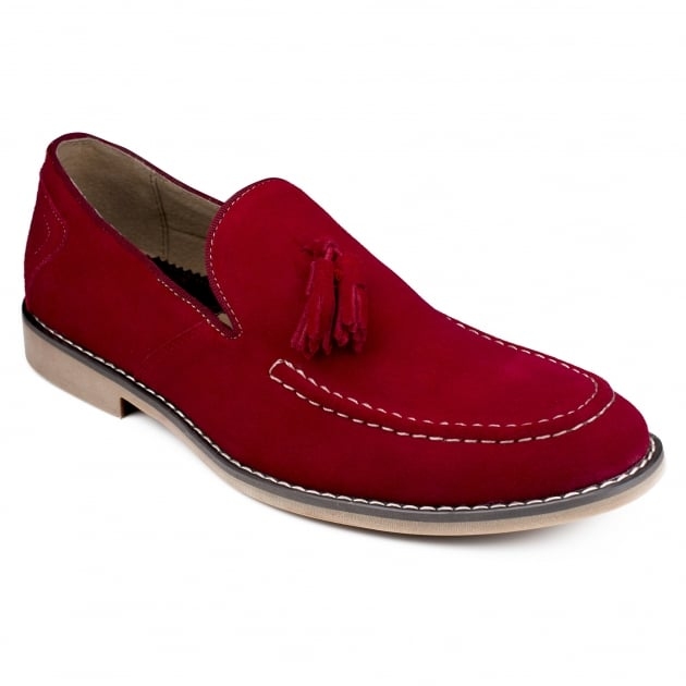 Front Barnes Deep Red Shoes