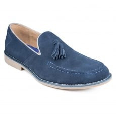Front Barnes Navy Shoes