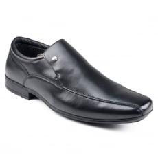 Front Belmont  Black Shoes