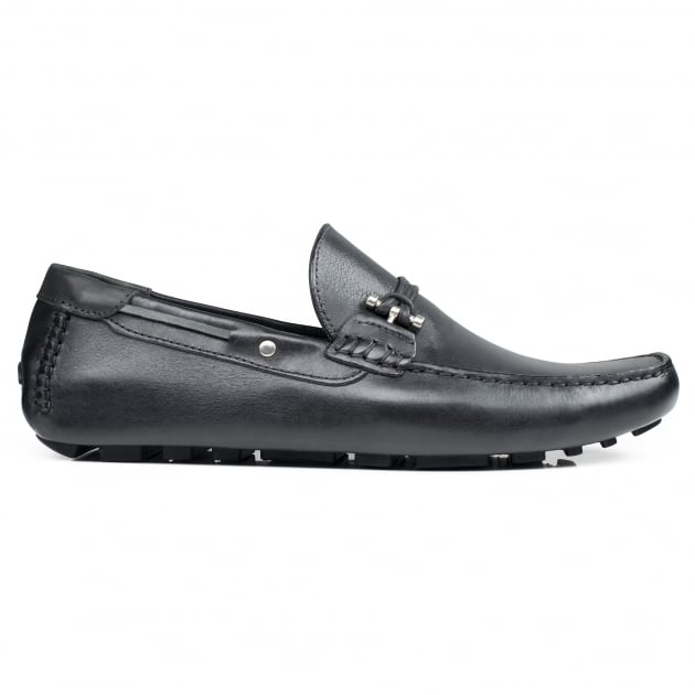Front Emerson Black Leather Shoes