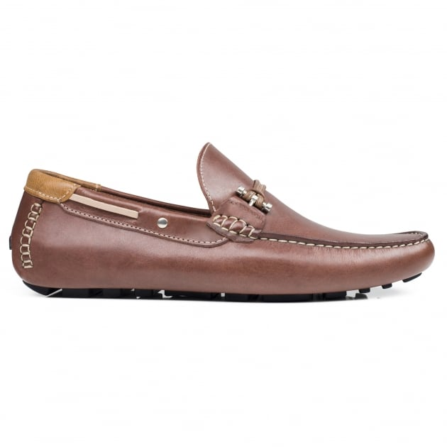 Front Emerson Leather Brown Leather Shoes