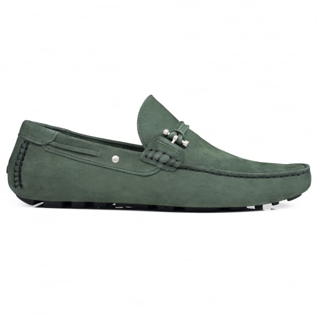Front Emerson Suede Green Nubuck Shoes