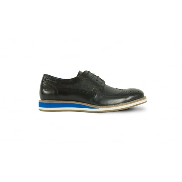 Front Berkeley Lace Up Shoe - Black