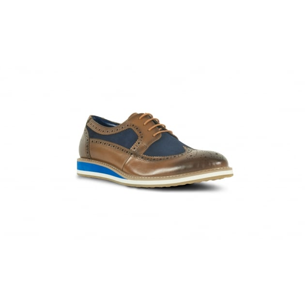 Front Berkeley Lace Up Shoe - Tan