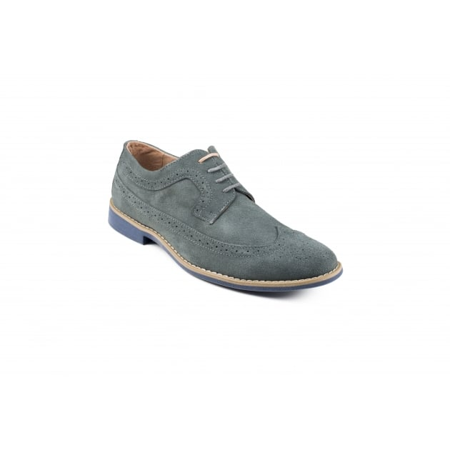 Front Fadden 2 Lace Up Brogue Shoe - Grey