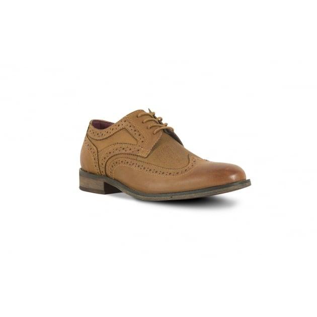 Front Maddox Brogue Shoe -Tan