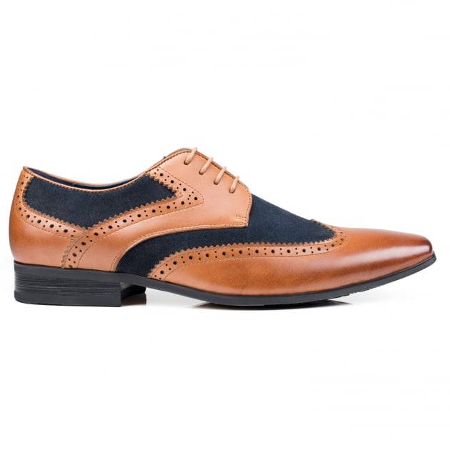 Front Turin (Fr7223) Tan/Navy Shoes