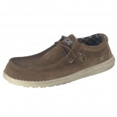 Hey Dude Wally Suede Nut Shoes