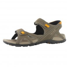 Hi Tec Laguna Strap Dark Taupe/Light Taupe/Gold Sandals