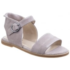 Hush Puppies Abia Chrissie Women's Flat Sandal-Light Taupe Suede
