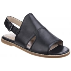 Hush Puppies Adiron Chrissie Ladies Buckle Shoe-Black Leather