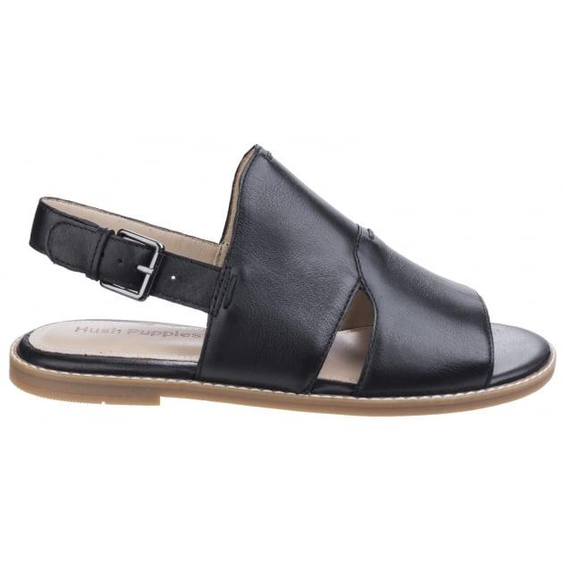 Hush Puppies Adiron Chrissie Ladies Buckle Shoe-Black Leather