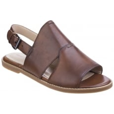 Hush Puppies Adiron Chrissie Ladies Buckle Shoe-Tan Leather