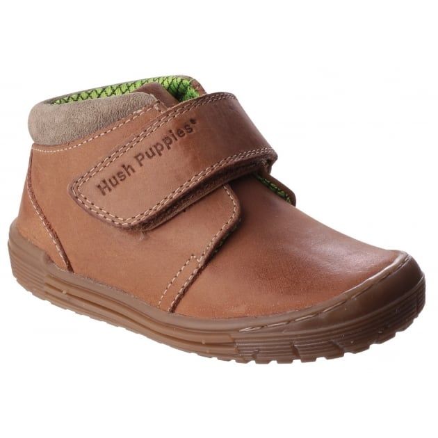 Hush Puppies Archie Boys Junior Casual Shoe-Tan