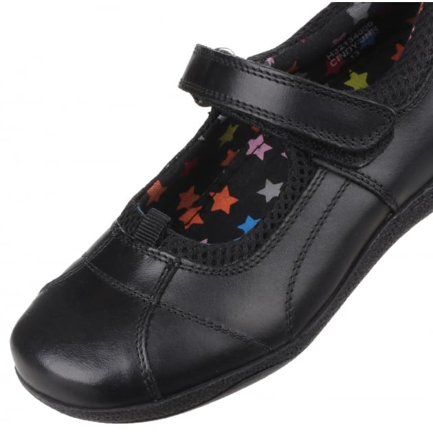 Hush Puppies Cindy Senior Girls Back to School Shoe-Black Leather