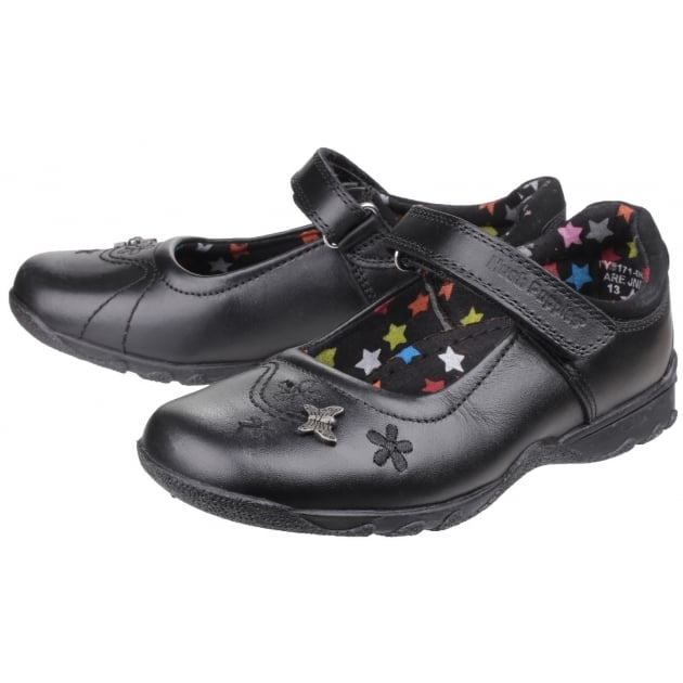 Clare Junior Girls Shoe-Black