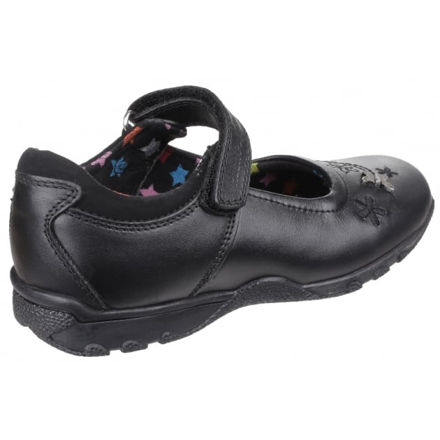 Hush Puppies Clare Senior Girls Back to School Shoe-BLACK