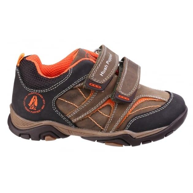 Edo Boys Junior Casual Shoe-Khaki