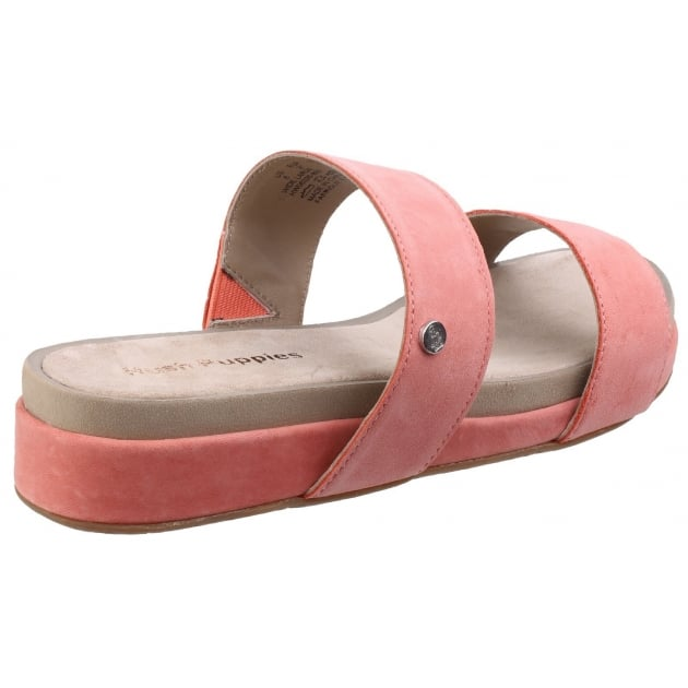 Hush Puppies Gallia Chrysta Slip-on Ladies Shoe-Coral Nubuck