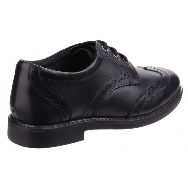 Hush Puppies Harry Boys Back to School Shoe-Black