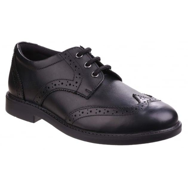 Hush Puppies Harry Senior Boys Back to School Shoe-Black