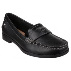 Hush Puppies Iris Sloan Slip on Loafer Shoe-Black