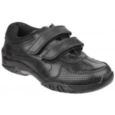 Hush Puppies Jezza Boys Back to School Shoe-Black
