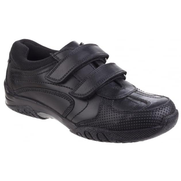 Hush Puppies Jezza Senior Boys Back to School Shoe-Black