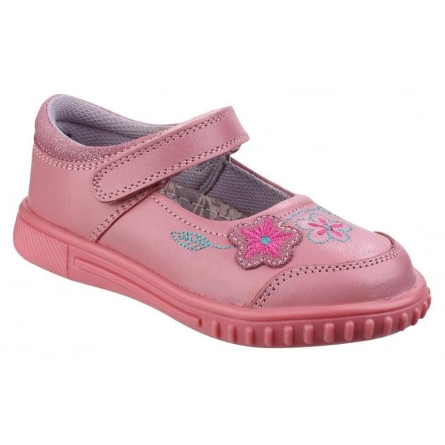 Hush Puppies Lottie Girls Junior Casual Shoe-Pink