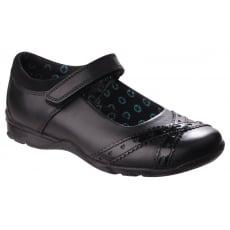 Hush Puppies Olivia Girls Back to School Shoe-Black