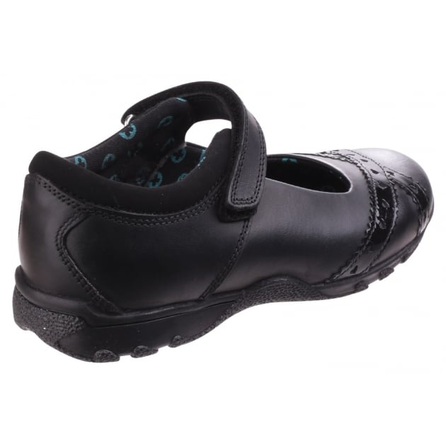 Hush Puppies Olivia Girls Back to School Shoe-Black