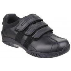 Hush Puppies Seb Junior Boys Shoe-Black