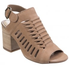 Hush Puppies Sidra Malia Heeled Sandal-Light Tan Nubuck