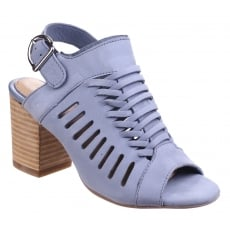 Hush Puppies Sidra Malia Heeled Sandal-Powder Blue Nubuck